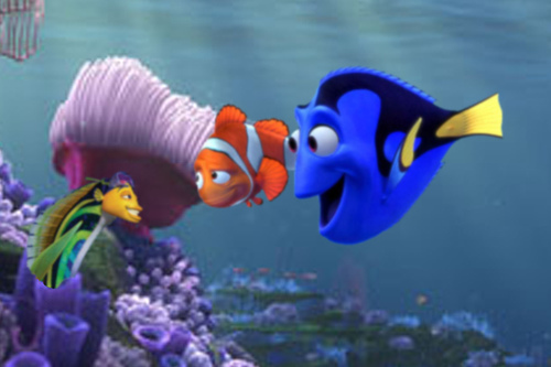 marlin, dory, and... oscar!