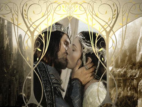 반지의 제왕 바탕화면 titled Aragorn and Arwen