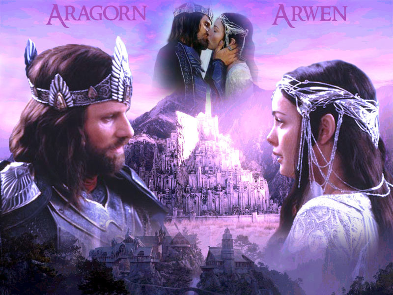 lord of rings wallpaper. Aragorn and Arwen - Lord of