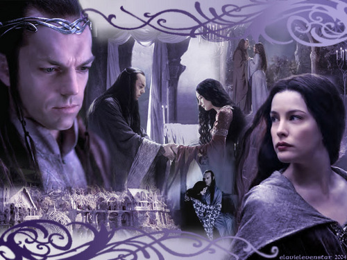 Arwen and Elrond - lord-of-the-rings Wallpaper