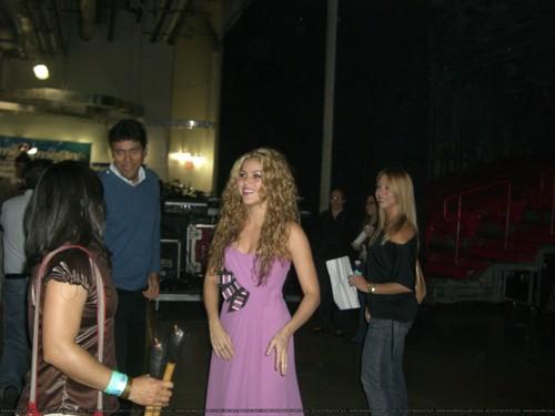 Backstage at the El Gran Concierto at the American Airlines Arena in Miami