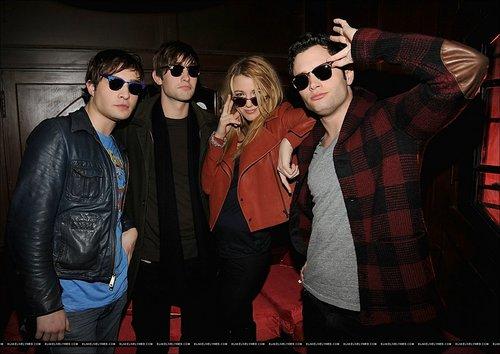 Blake, Penn, Ed, Chace at Ray-Ban Remasters at Bowery Ballroom