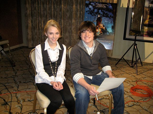 Annasophia robb bridge to terabithia movie tour 2007