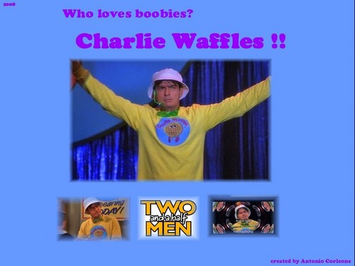Charlie Waffles Wallpaper - two-and-a-half-men Wallpaper