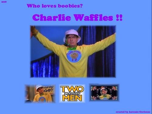 Charlie bánh quế, bánh kem sữa waffle hình nền