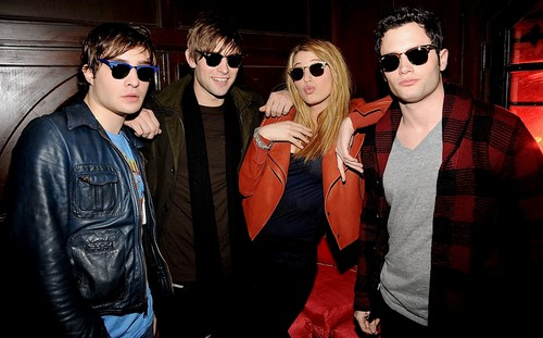Ed Westwick wolpeyper containing sunglasses titled Ed Westwick -12.09.08 Ray-Ban Remasters at Bowery Ballroom