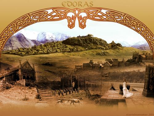 el señor de los anillos fondo de pantalla possibly containing a sign called Edoras