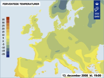 Europe weather december 12th 2008