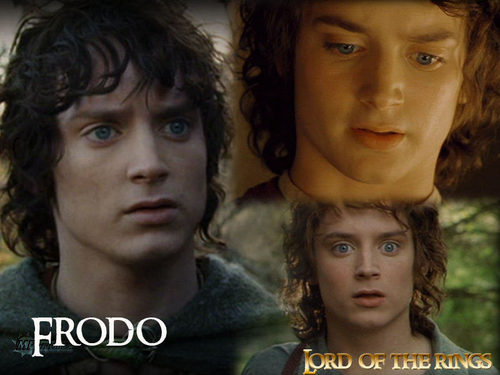 반지의 제왕 바탕화면 containing a portrait titled Frodo