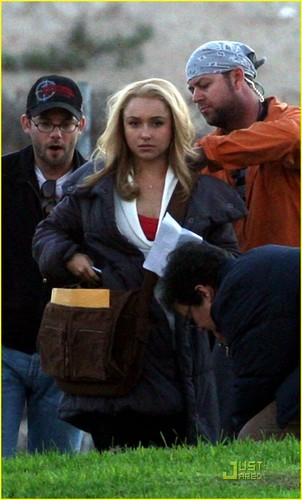 Hayden On Set