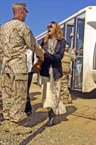 Hilarie visiting Iraq