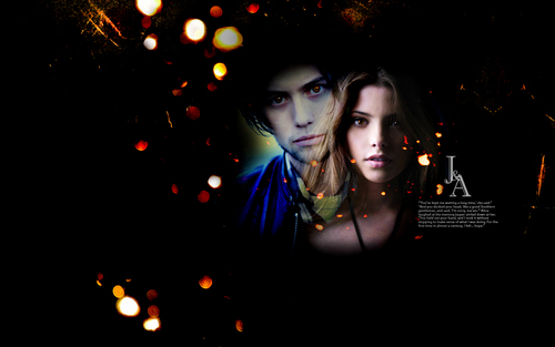 Jackson Rathbone & Ashley Greene fondo de pantalla possibly with a calle entitled Jackson & Ashley
