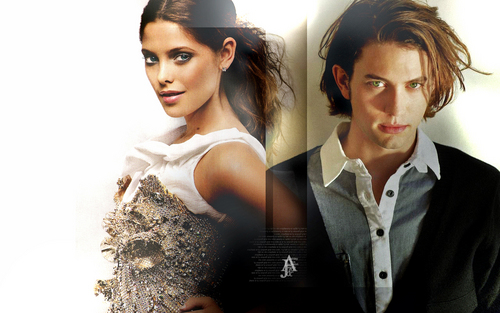 Jackson Rathbone & Ashley Greene wolpeyper probably containing a portrait titled Jackson & Ashley
