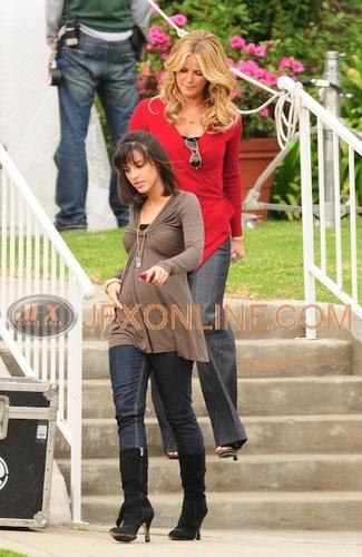 Jessica filming 90210