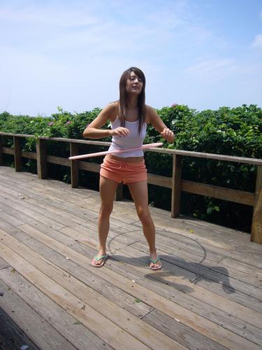 Leah at photoshoot