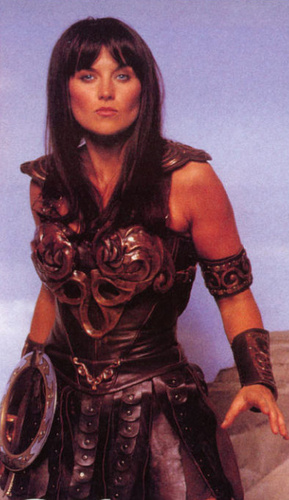 Lucy Lawless wallpaper possibly with a hip boot entitled Lucy as Xena