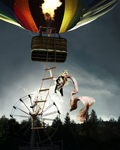 Marjorie - Posing on a Rope Ladder/Hot Air Balloon