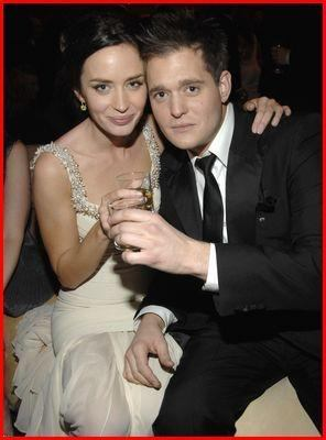 Michael Bublé wallpaper with a business suit titled Michael Buble and Emily Blunt
