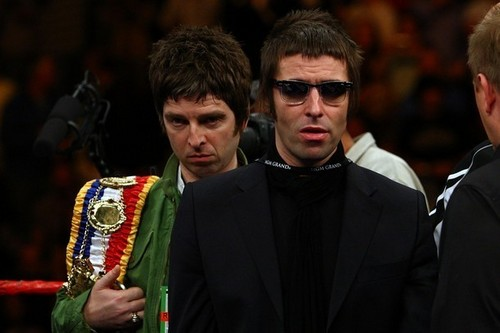 Noel and Liam at the ring