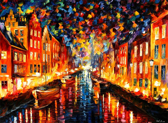 Painting of Nyhavn