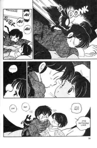 Ranma slips and falls on Akane (lol ^.^;)