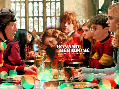 Ron and Hermione HBP