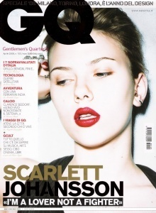 Scarlett Johansson wallpaper containing a portrait entitled Scarlett @ GQ
