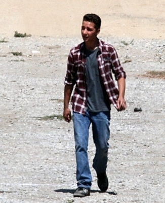 Shia LaBeouf wallpaper titled Shia on Set Transformers 2 Aug.2008
