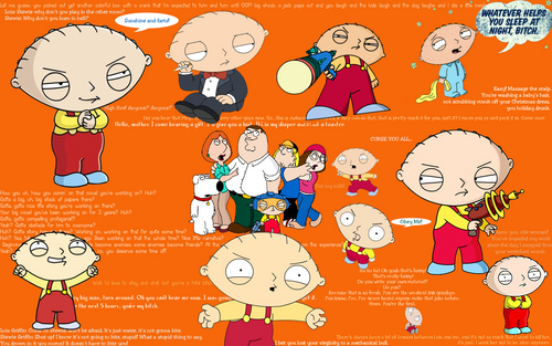 Stewie wallpaper w/quotes