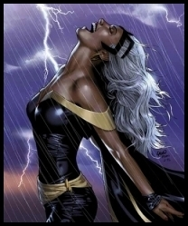 X-Men wallpaper probably containing a hip boot titled Storm