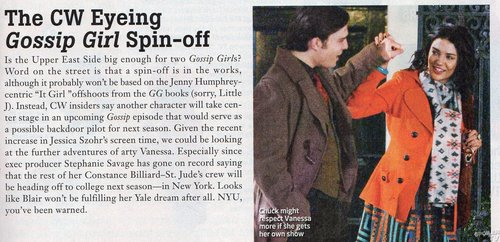 TV Guide scan about spinoff