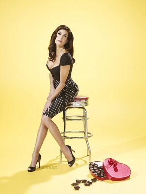 Desperate Housewives wallpaper probably with bare legs, hosiery, and tights called TVGuide Outtakes (Teri Hatcher)