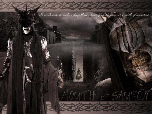 el señor de los anillos fondo de pantalla entitled The Mouth of Sauron