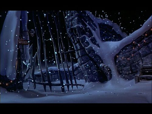 Nightmare Before Christmas Wallpaper Probably Containing A Snowbank And Sign Titled The