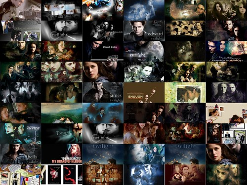 Twilight Collage - twilight-couples Wallpaper