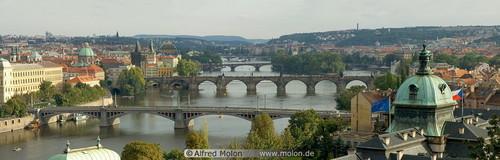 Vltava river and bridges