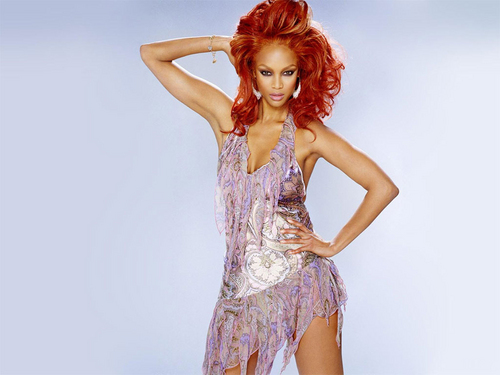 tyra banks wallpaper probably with a coquetel dress called fears