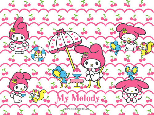 Sanrio wallpaper called my melody