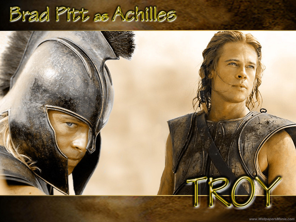 Troy Achilles WallpaperAchilles Brad Pitt Hair