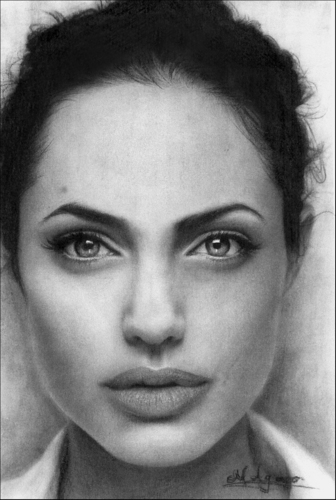 Angelina Jolie wallpaper with a portrait entitled Angie drawings*