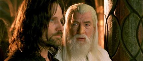 Aragorn and Gandalf