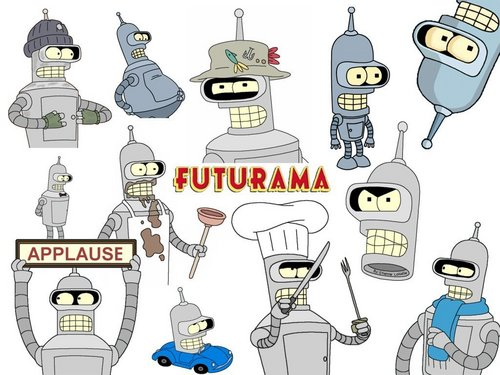 Futurama wallpaper with anime called Bender