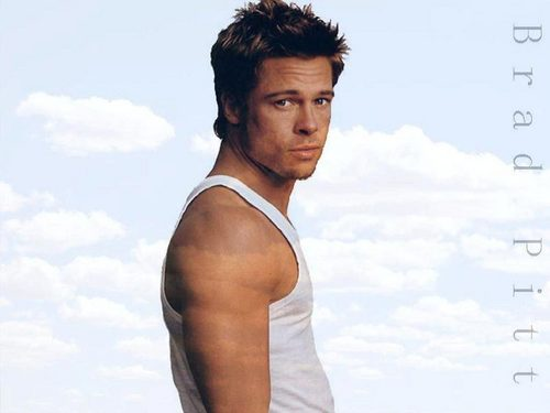 Brad Pitt wallpaper possibly containing a hunk, a singlet, and a portrait titled Brad Pitt Wallpaper