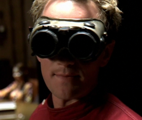Dr. Horrible's Sing-A-Long Blog wallpaper titled Dr. Horrible with evil goggles down