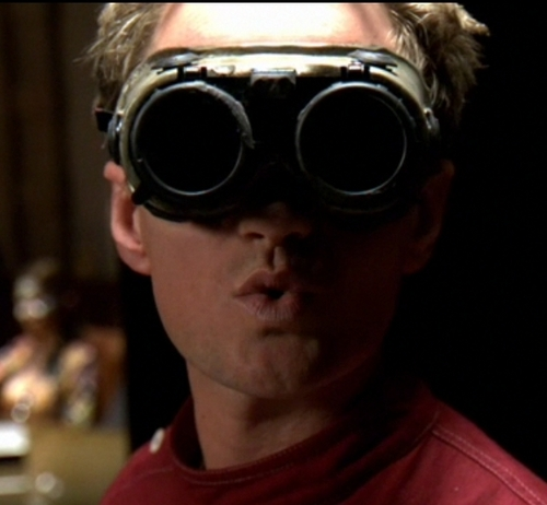 Dr. Horrible with evil goggles down