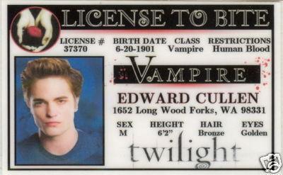 Edward Cullen's ID