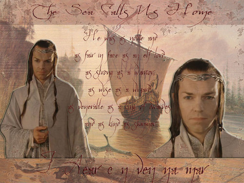 el señor de los anillos fondo de pantalla containing a sign entitled Elrond