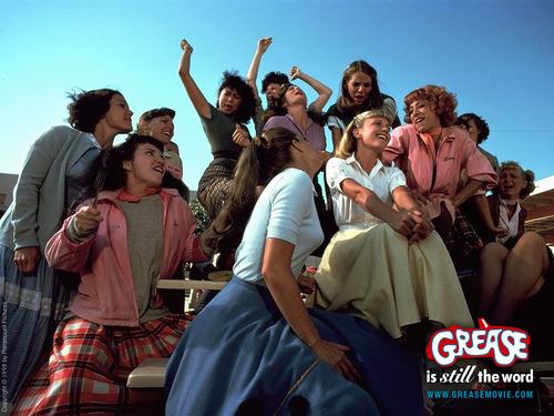 vaselina la película fondo de pantalla titled Grease