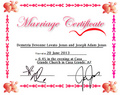 Jemi [fake] Marriage Certificate