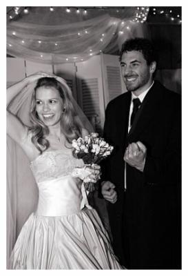 Bethany Joy Lenz wallpaper probably containing a bridesmaid entitled Joy and her husband Michael Galeotti